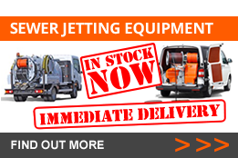 Sewer Jetting Equipment in stock now with immediate delivery. Find out more
